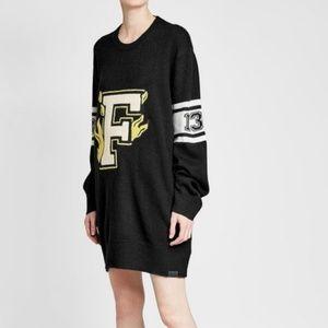 FENTY Puma Rihanna Letterman Sweater Dress M NWT